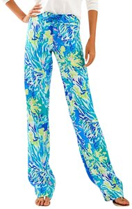 Lilly Pulitzer Relaxed Pants Brilliant Blue Wade and Sea