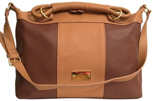 Joy & IMAN Tote Satchel Shoulder Jm New York New Brown Tan Travel Bag