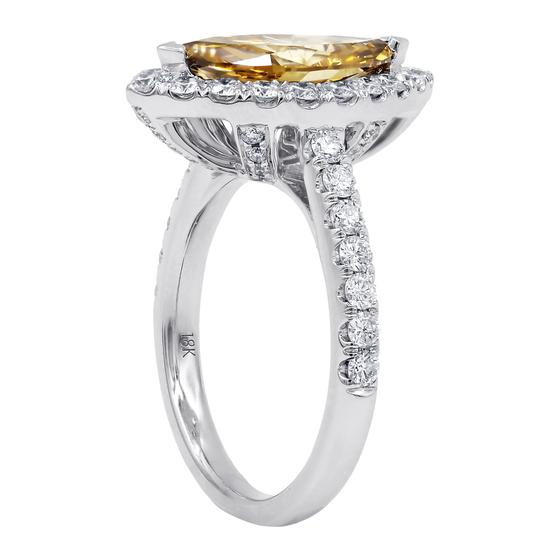Exquisite Fancy Yellow-brown Diamond Engagement Ring Image 1