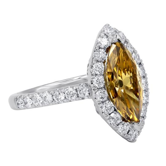 Exquisite Fancy Yellow-brown Diamond Engagement Ring Image 3