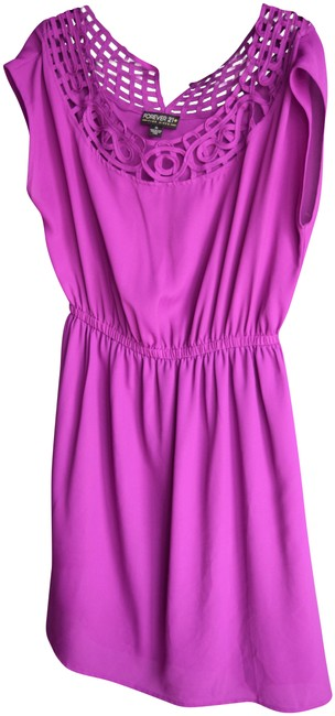 Preload https://img-static.tradesy.com/item/23060198/forever-21-purple-short-sleeve-with-cutout-neckline-mid-length-cocktail-dress-size-16-xl-plus-0x-0-1-650-650.jpg