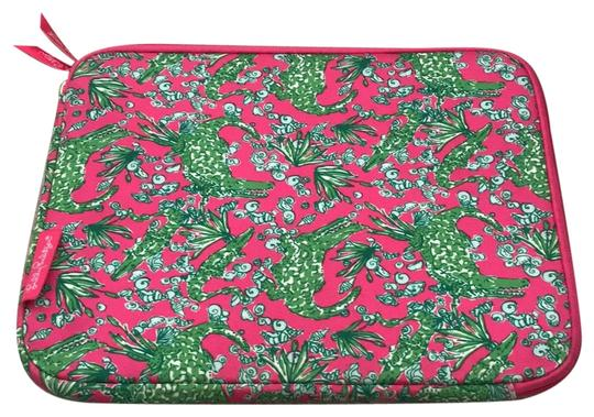 Preload https://img-static.tradesy.com/item/23060206/lilly-pulitzer-pink-green-ipad-case-tech-accessory-0-1-540-540.jpg