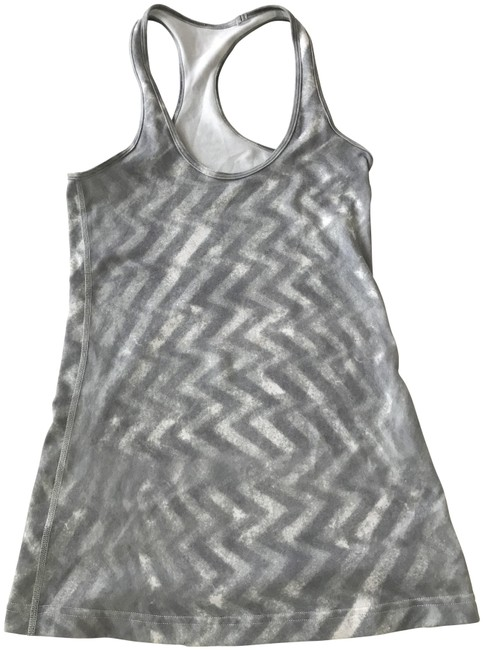 Item - Gray/White Cool Racerback Activewear Top Size 4 (S, 27)