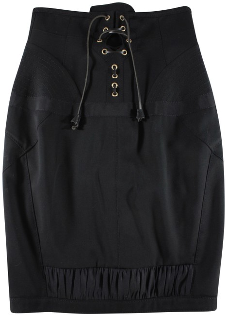 Preload https://img-static.tradesy.com/item/23060265/dsquared2-black-wool-lace-up-ruched-accent-size-6-s-28-0-1-650-650.jpg