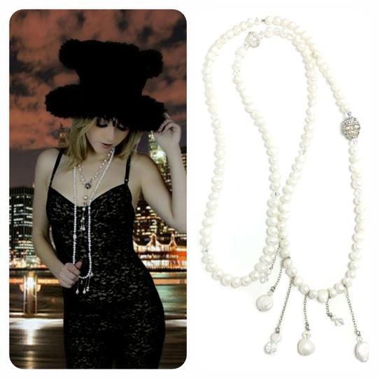 Kinley Pearl Wrap Kinley Necklace with Crystal Skull Image 1