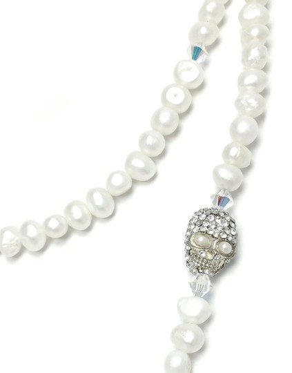 Kinley Pearl Wrap Kinley Necklace with Crystal Skull Image 5