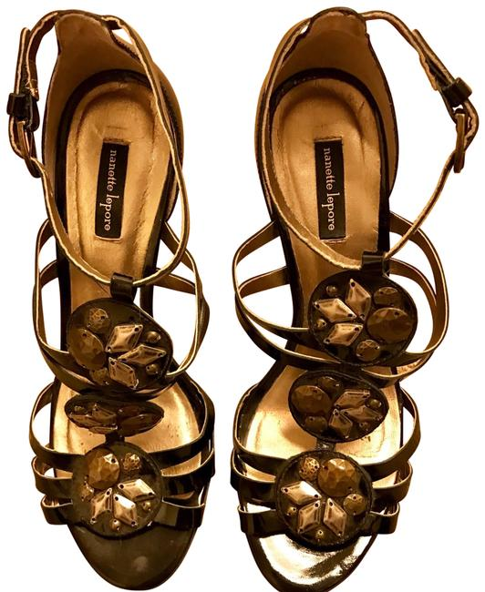 Item - Black Strappy Patent Leather Formal Shoes Size US 6 Regular (M, B)