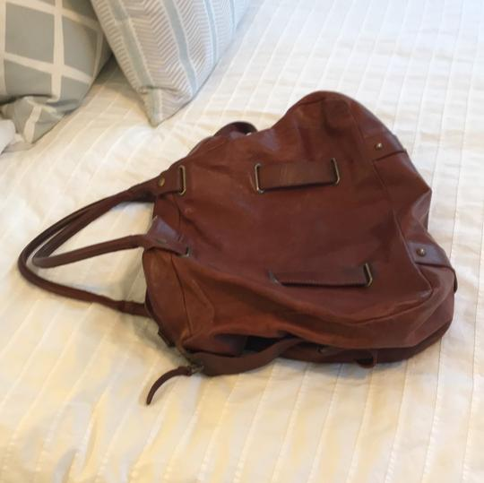 Theory Satchel in brown Image 1