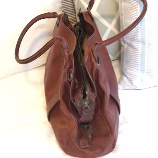 Theory Satchel in brown Image 11
