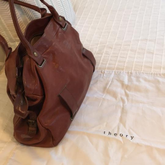 Theory Satchel in brown Image 7
