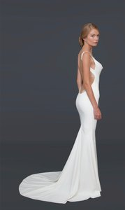 Katie May White Barcelona Gown Destination Wedding Dress Size 10 M