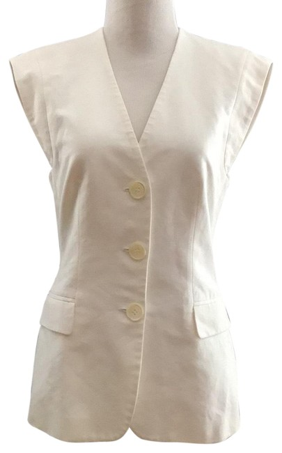 Item - White Cap Sleeve By Collection Vest Size 4 (S)