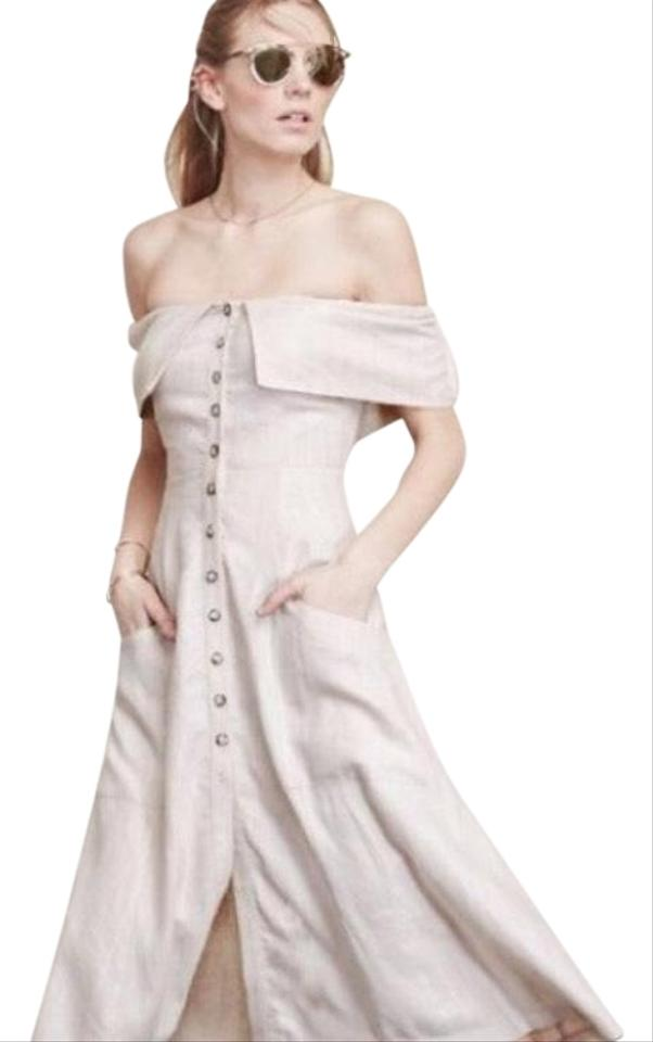 bc813f43c5 white Maxi Dress by Reformation Linen Limited Edition Off The Shoulder  Sundress Date Night Image 0 ...
