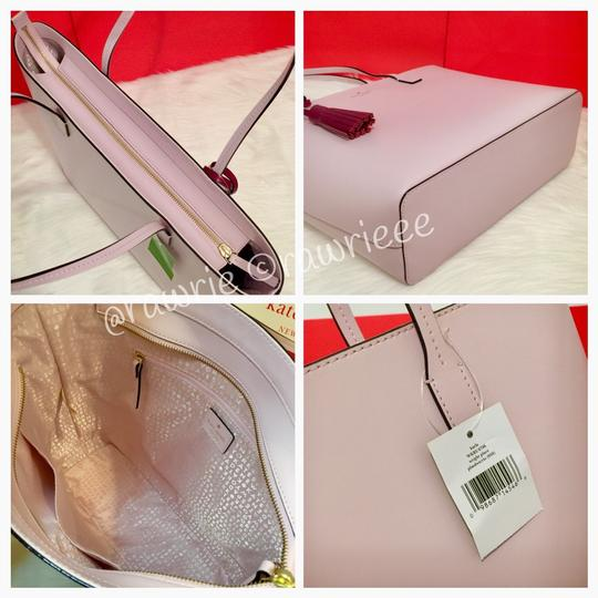Kate Spade Leather Large Leather Tassel Smooth Leather Work Tote in Pink Image 3