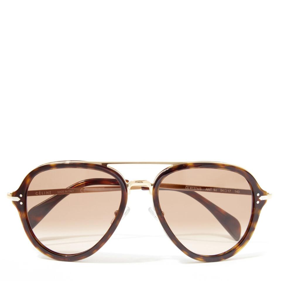 0fef81dc31806 Céline Tortoise and Gold Cl 41374 S Cl 41374 S Sunglasses - Tradesy