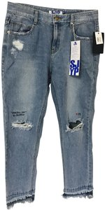 SJYP Capri/Cropped Denim-Distressed