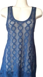 Banana Republic Racer Back Lace Top navy