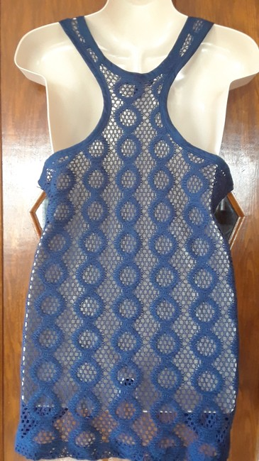 Banana Republic Racer Back Lace Top navy Image 2