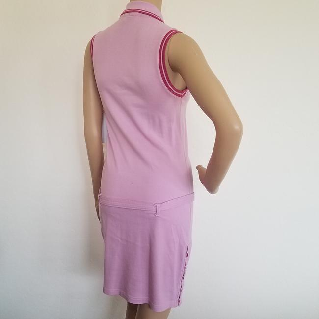 Pink, Yellow Maxi Dress by Dior Sundress Embroidered Logo Monogram Diorissimo Image 10