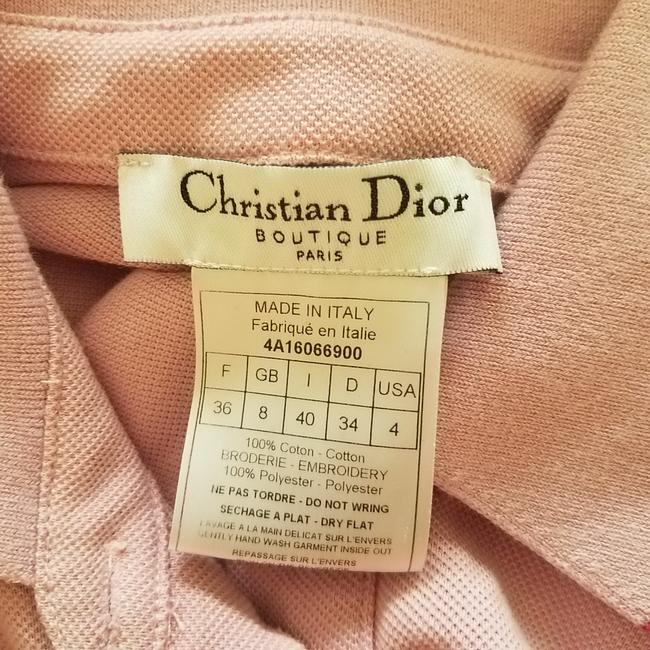 Pink, Yellow Maxi Dress by Dior Sundress Embroidered Logo Monogram Diorissimo Image 11