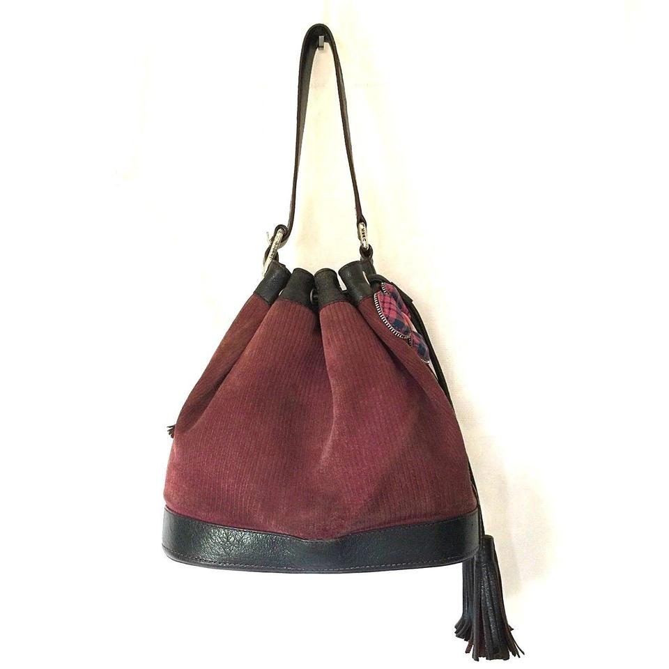 Marc Jacobs Suede Bucket Drawstring Shoulder Bag
