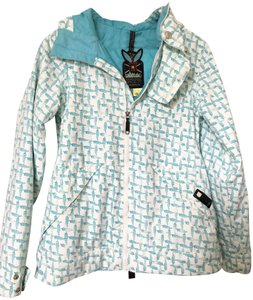 b75e4d5480e Burton Lined Snow Snowboard White and Blue Jacket