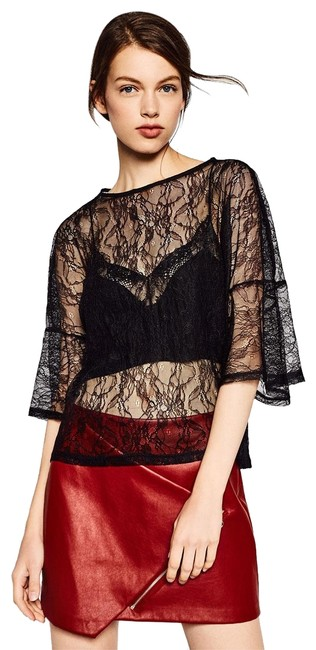 Preload https://img-static.tradesy.com/item/23061075/zara-black-flounce-sleeve-loose-fit-sheer-floral-lace-unlined-blouse-size-10-m-0-1-650-650.jpg
