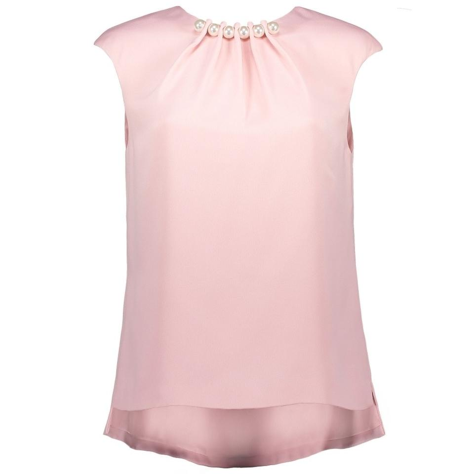 be2d8229027bb Ted Baker Dusky Pink Camble Pearl Embellished Blouse Size 6 (S ...