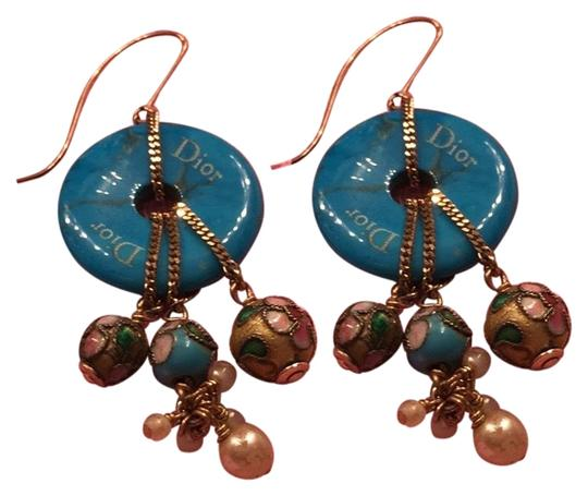 Preload https://img-static.tradesy.com/item/23061191/dior-blue-aqua-with-colorful-balls-and-small-pearls-earrings-0-1-540-540.jpg