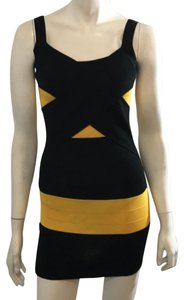 Si Style Dress short dress Black and yellow on Tradesy