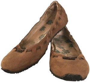 Ahnu Travel Leather Suede Slipper Slip-on Smokey Brown Flats