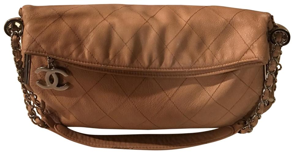 5925fcd00675 Chanel Quilted Lambskin Medium Ultimate Soft Tote Beige Leather Hobo Bag