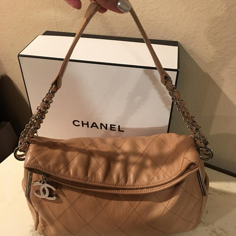 6f1d9b70d66e80 Chanel Quilted Lambskin Medium Ultimate Soft Tote Beige Leather Hobo Bag -  Tradesy
