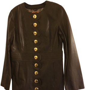 Tory Burch Coat Clothing Brown (coconut) Leather Jacket