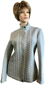 Max Mara Quilted Casual Pastel Blue Jacket