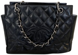 Chanel Jumbo Maxi Double Flap Hermes Tote in Black