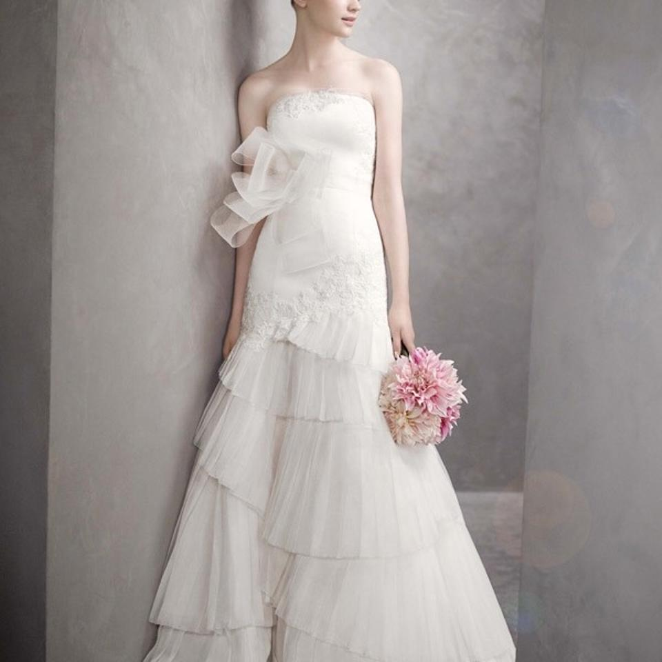 Vera wang bridal ivory chiffon tulle casual wedding Wedding dress xs