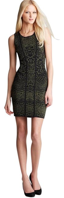 Item - Olive Green/Black Cairo Stretch Bodycon Fit Short Night Out Dress Size 2 (XS)