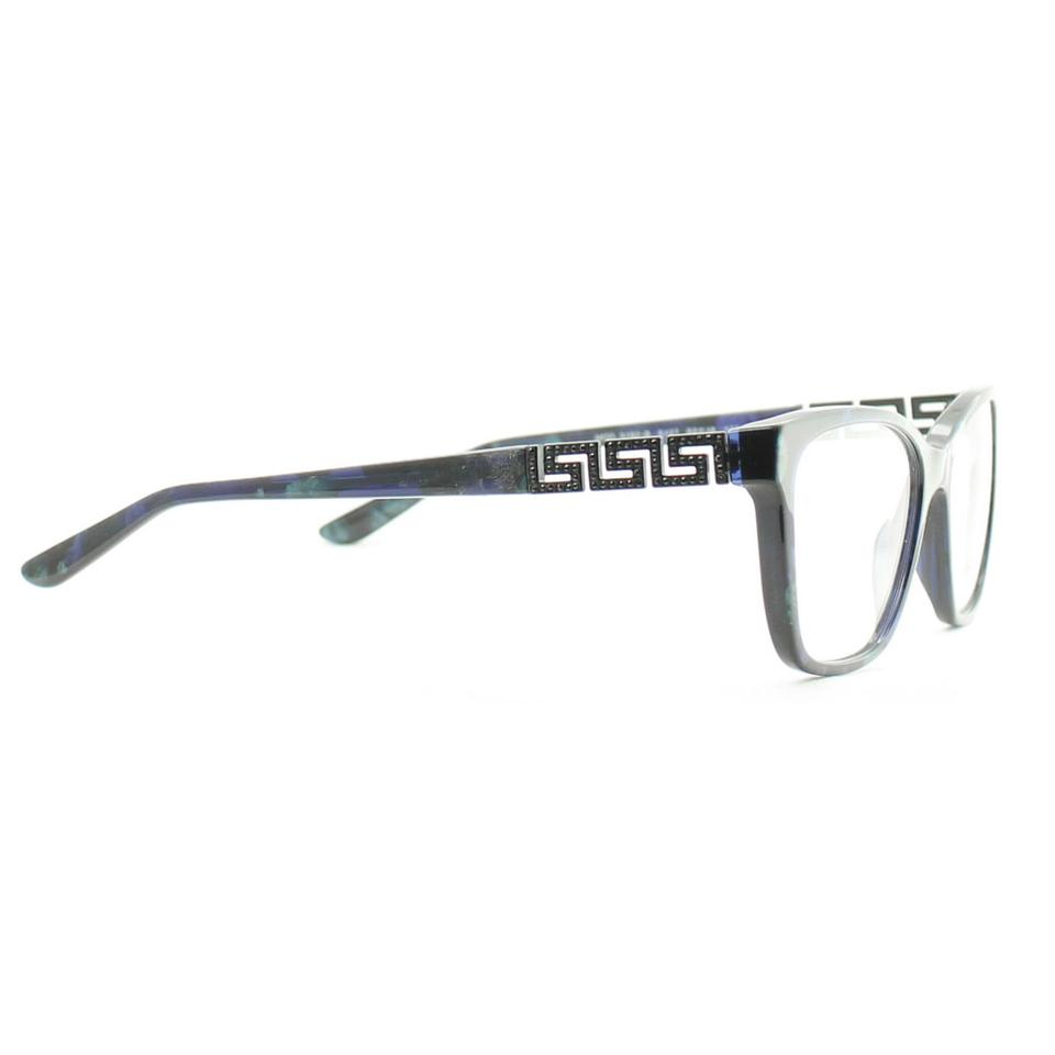 39b0f95b7f61 Versace New VERSACE Eyeglasses VE 3192-B 5127 Black Blue Green Marble  Image. 12345678