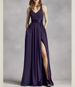 White by Vera Wang Purple Amethyst Halter Gown Bridesmaid/Mob Dress Size 2 (XS)