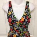 It Figures Black Floral One-piece Bathing Suit Size 8 (M) It Figures Black Floral One-piece Bathing Suit Size 8 (M) Image 2