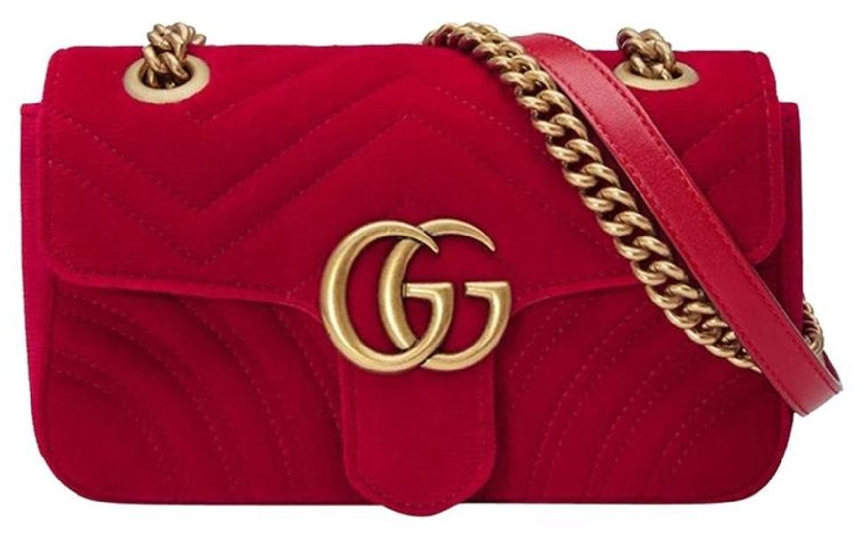 ba47568c66d9 Gucci Marmont New Gg Mini Velvet Shoulder Bag - Tradesy