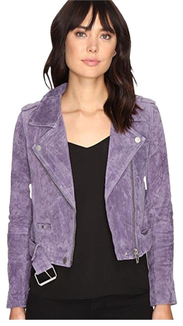 Item - Purple Suede Moto Jacket Size 8 (M)