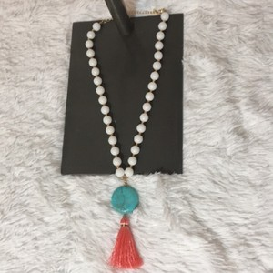 White Blue {nwot} Pink and Gold Necklace