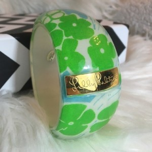Lilly Pulitzer Blue Green Lucite Bangle Bracelet