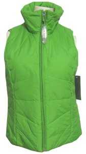 Kenneth Cole New Down Filled Feather Puffer Jacket Sleeveless Top M 8 10 Zippered Zip Vest