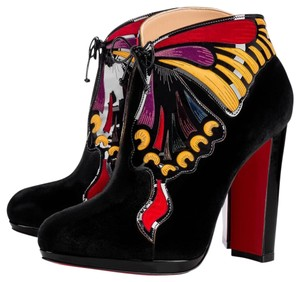 Christian Louboutin Heels Butterfly Black Boots
