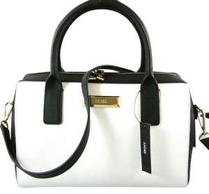 dkny Satchel in black/white