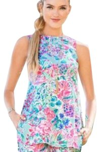 Lilly Pulitzer Floral Print Sleeveless Spring Tunic