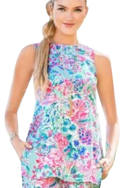 Item - Pink Blue Donna Tunic Size 4 (S)